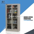 Glass Sliding Door Steel Cupboard Storage Cabinets