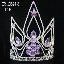 Wholesale Big Violet Rhinestone Crown For Sale