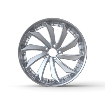 Front/Rear Left/Right Rim 22x9 Silver Stainless Steel Lip