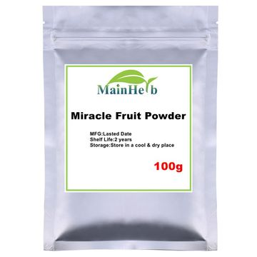 100-1000g Magic Fresh Miracle Fruit powder/Miracle Berry Miraculin Powder Causing Bitter & Sour Foods To Taste Sweet
