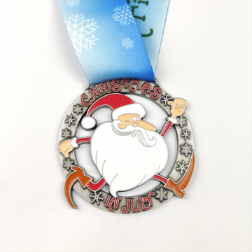 Custom zinc alloy race medals enamel color
