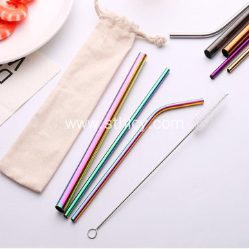 Food Grade 304 Color Creative Stainless Steel Straws