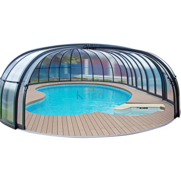 Aluminum Glass Sunroom for Swimming Retractable Pool Roof