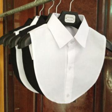 Fashion Cotton Lace Fake Collar Blouse Vintage Detachable Shirt Collar False Collar Lapel Blouse Top Women Clothes Accessories