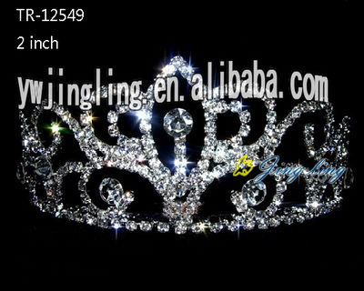 Wedding Flower Jewelry Crystal Pageant Tiara