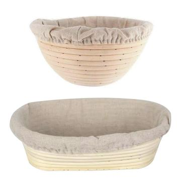 Natural Rattan Fermentation Basket Country Bread Baguette Dough Mass Proofing Tasting Proving Wicker Baskets Kitchen Supplies