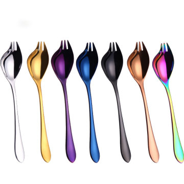 Creative stainless steel ice scoop coffee mixing spoon