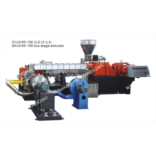 Two stage pelletizing extruder line