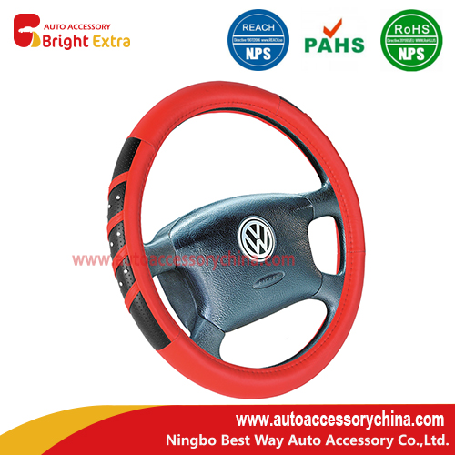 steering wheel cover with diamond