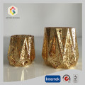 Hand Made Gold Color Votive Candle Holder