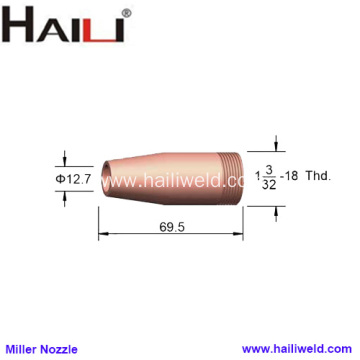 "Miller Welding Nozzle 047959 1/2"" for GA-40C gun"