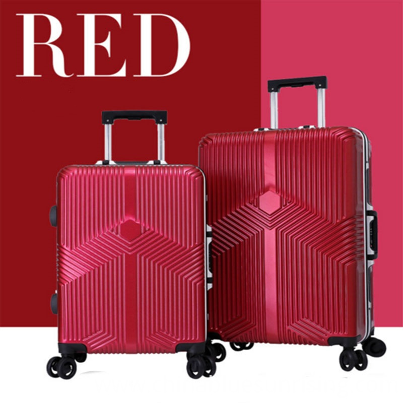 Red abs+pc luggage