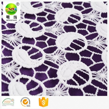 cotton lace fabric embroidery for ladies garment