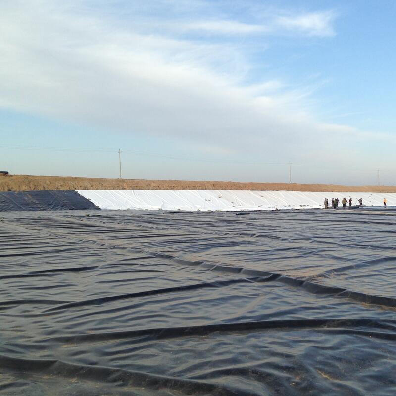 application for double color geomembrane