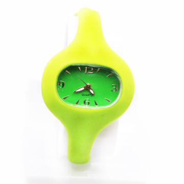 Kids Silicone Thin Strap Squar Quartz Watch