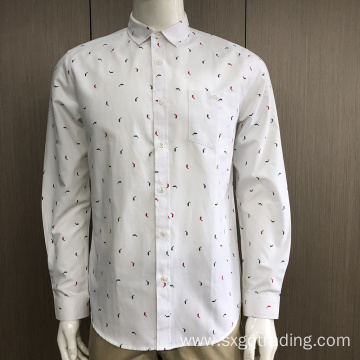 Men's CVC print long sleeve shirt