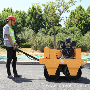 Double drum vibration roller road roller compactor smooth drum roller for sale FYL-S600C