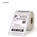 Customized direct thermal adhesive paper label roll