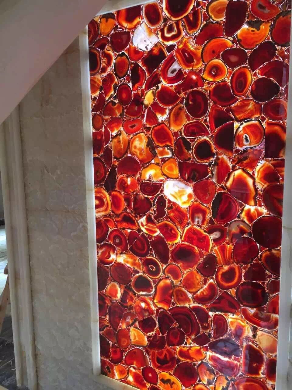 Red Agate Slab Agate Stone Natural Agate Stone