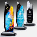 Mixed color crystal trophy