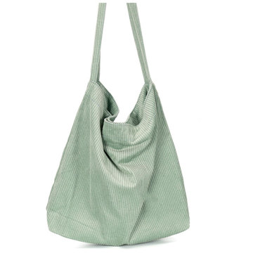 Folding Causal Eco Friendly Corduroy Tote Bag
