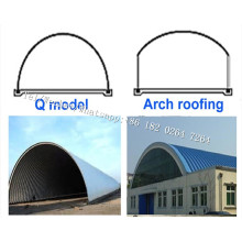 K Arch Span Self Supported Metal Roofing Machine