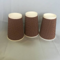 Disposable Paper Ripple Cups Double Wall Heat Insulation