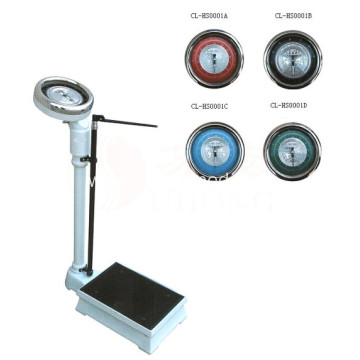 Medical Mechanical Body Height And Weight Scale