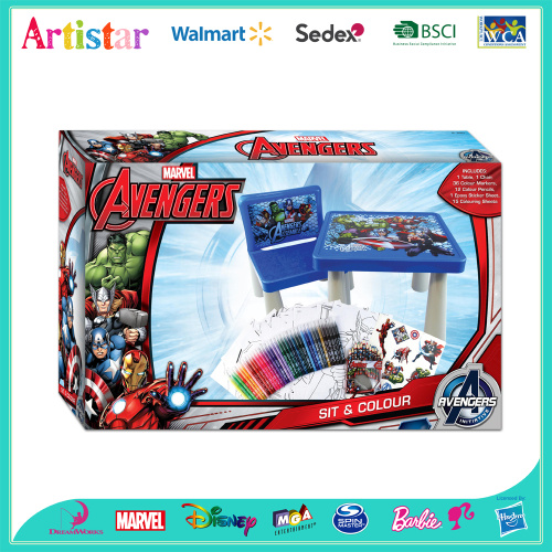 MARVEL AVENGERS Sit&Colour attractive table