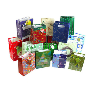 Printed paper bag for gift packing