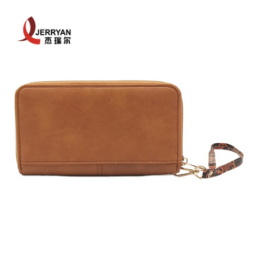 Front Pocket Bifold Wallet Clutch with Hand Strap