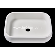 Matte pure acrylic countertop washbasin for hotel