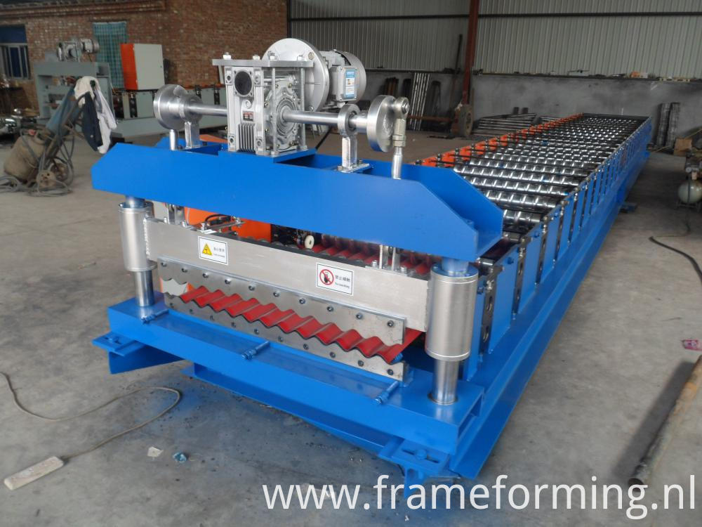 corrugated panel machine