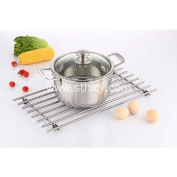 Mirror Polished Stainless Steel Sauce Pot with Lid