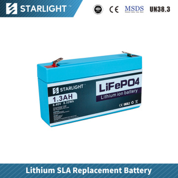 6V 1.3ah LiFePO4 Battery Replace Lead Acid Battery