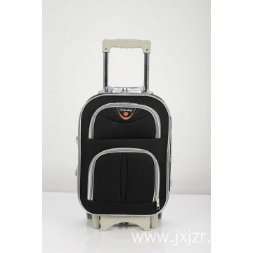 Silver zipper tooth travel luggage