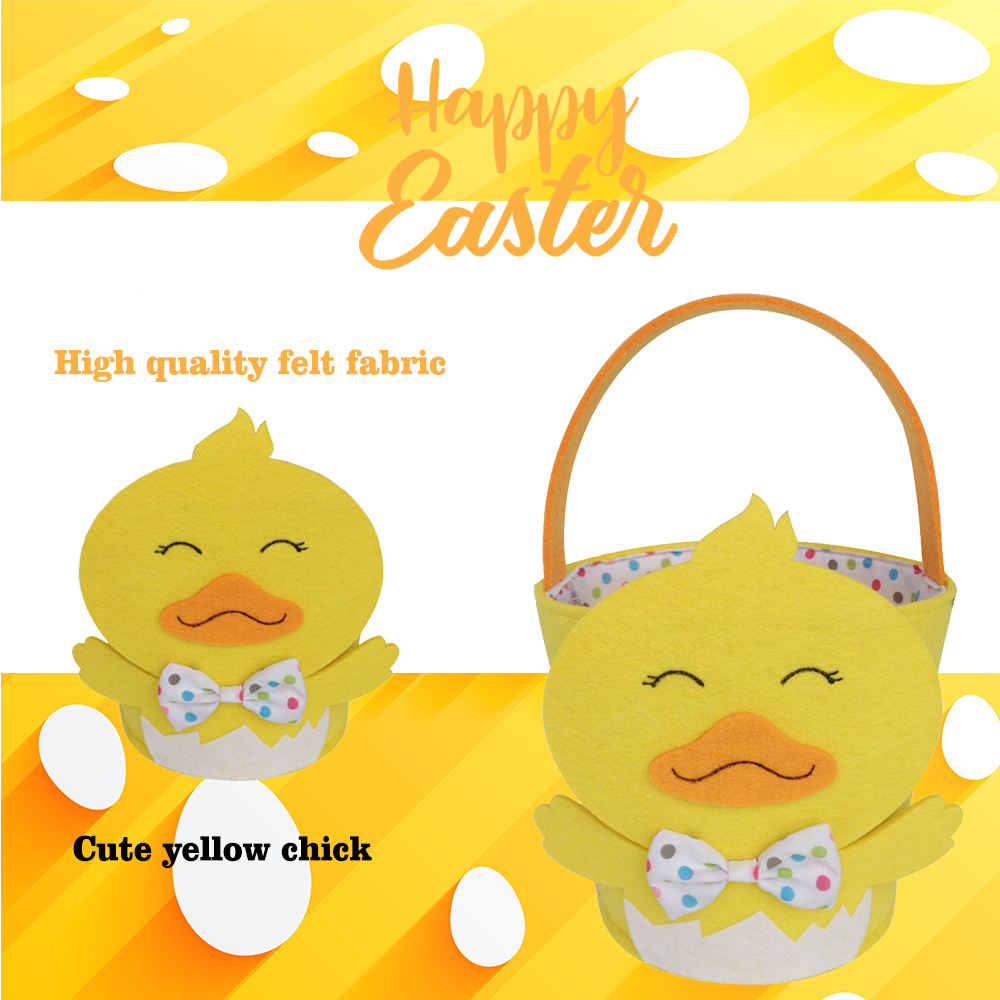 Easter basket with 3D chick pattern