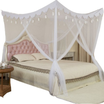 Square Box Mosquito Nets Foldable Double Bed Canopy