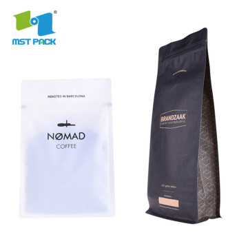 2020 falt bottom 8Oz 250G 500G 1Lb 2Lb 5Lb zipper Coffee Bags Valve food packaging