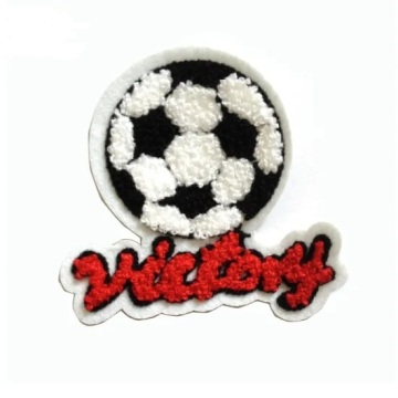 New Design Soccer Embroidered Patches Chenille