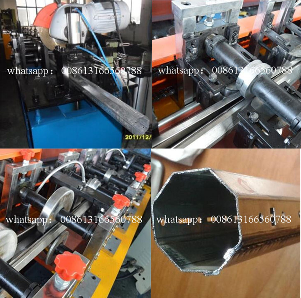 Octagonal Shutter Door Shaft Machine