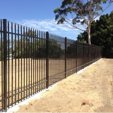 zinc steel picket fence