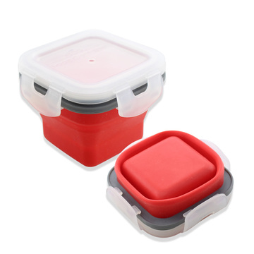 Silicone Collapsible Food Storage Containers With Lids