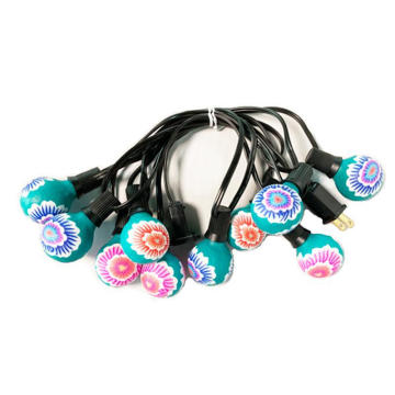 Festival G40 Colored Flower Painting String Light