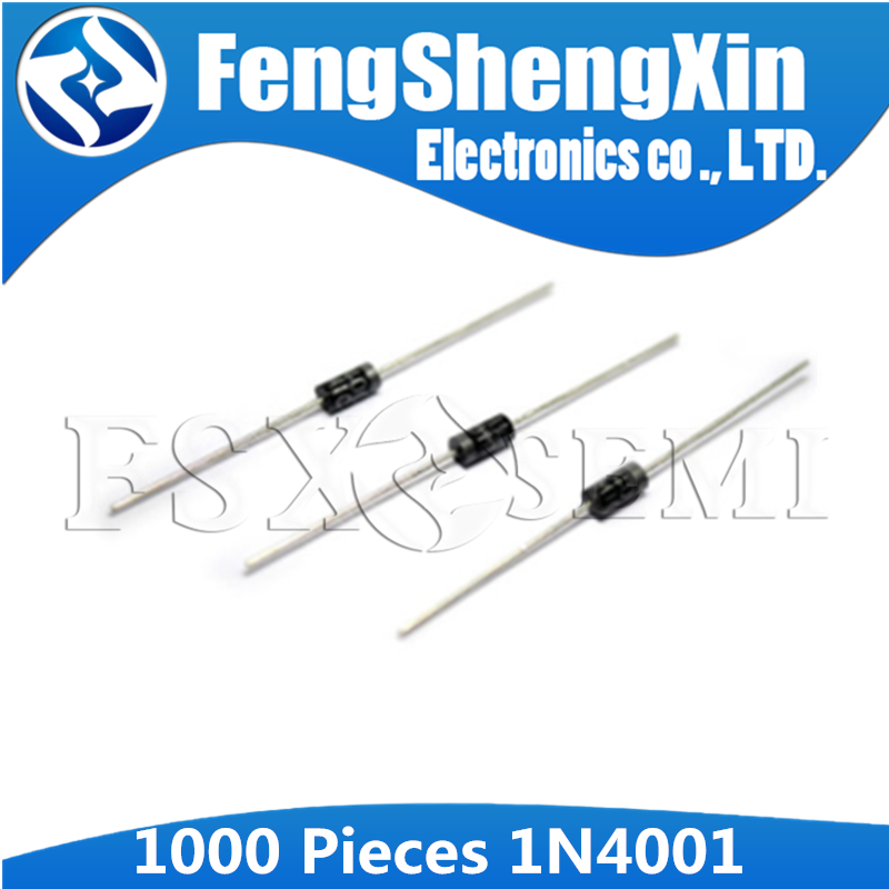 1000pcs/lot New 1N4001 1A 50V Rectifier diode DO-41 IN4001