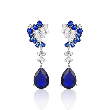 Fashion Jewelry Blue Stone Elegant Drop Earrings