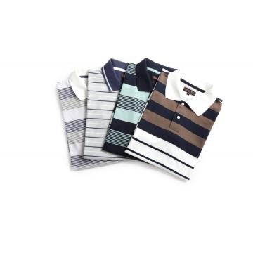MEN'S YARN DYE RIB COLLAR GOLFERS