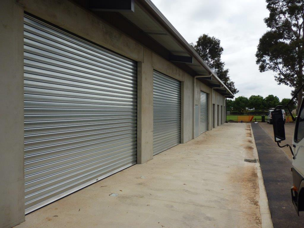 Zincalume shutters for storage sheds