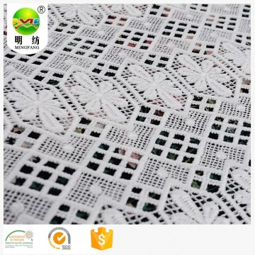 Chemical 100% polyester guipure embroidery fabric