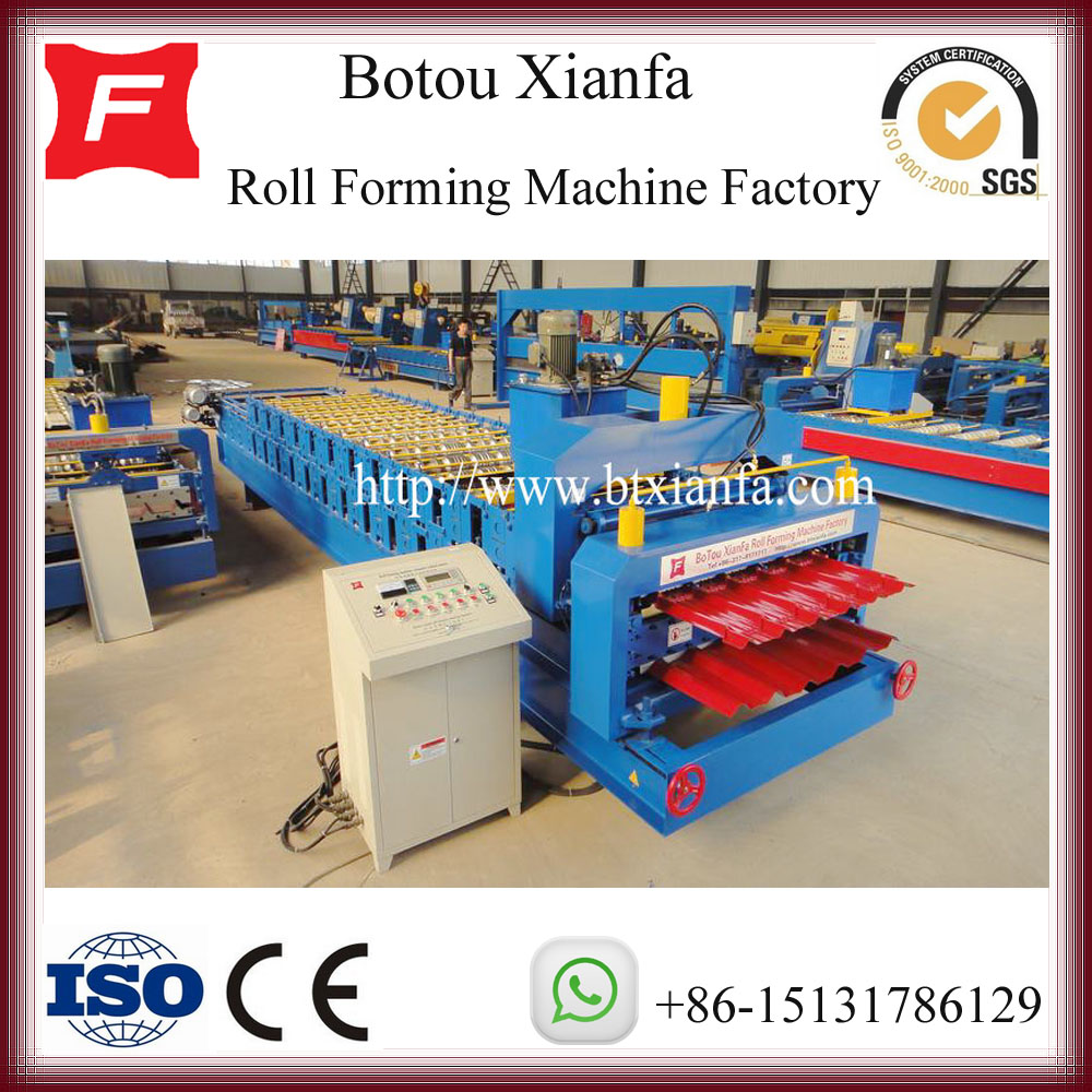 Double Deck Metal Roof Tile Roof Making Machine